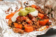 Sweet Potato Tacos a la Foil Packets