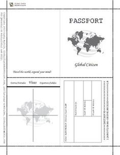 Printable passport template kids caroline 39 s for Printable passport template for kids