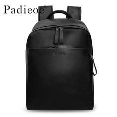 69.90$ Buy here - http://ali3lh.worldwells.pw/go.php?t=32789293937 - Padieoe Brand Genuine Leather Backpack for Man Cowhide Large Capacity Men Backpack Travel Bag Rucksack