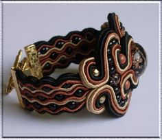 beaded soutache jewelry by Anneta Valious.
