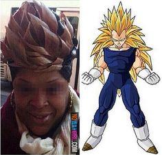 Her Weave Went Super Saiyan Like Goku - NoWayGirl