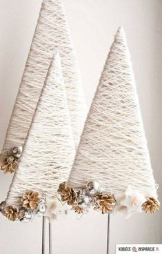 Top 40 moderne Weihnachtsdekoration Ideen - home de-core - Modern Christmas Decor, Diy Christmas Tree, Rustic Christmas, Christmas Projects, All Things Christmas, Winter Christmas, Handmade Christmas, Christmas Holidays, Christmas Ornaments