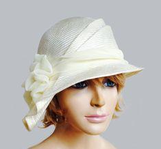 Sophia beautiful straw hat from the Downton Abbey by LuminataCo, $145.00