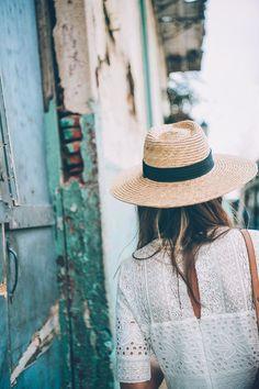 Panama City Travel Diary | Jess Ann Kirby white dress and panama hat