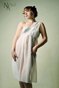 White Grecian Nightgown