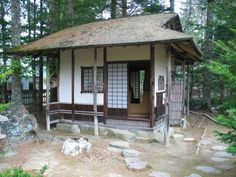 Traditional Japanese tea houses are made to be small and intimate, so that the host and the guests can enjoy both a formal or an informal tea.