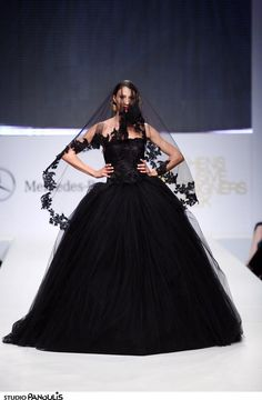 Notis Panayiotou A/W '13 // Black wedding dress inspiration