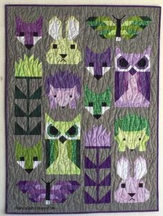 Alamosa Quilter: Fancy Forest :: A Finish Fox Quilt, I Spy Quilt, Quilting Projects, Quilting Designs, Quilting Ideas, Elizabeth Hartman Quilts, Baby Girl Quilts, Animal Quilts, Foundation Paper Piecing