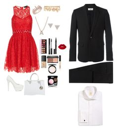 """Untitled #53"" by pi3rceth3ari ❤ liked on Polyvore featuring StyleStalker, Nly Shoes, Michael Kors, Anne Sisteron, Forever 21, Bony Levy, Lizzie Mandler, NARS Cosmetics, blacklUp and MAC Cosmetics"