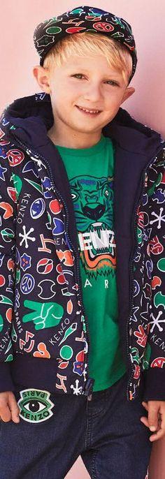 53ac9506b SALE !!! KENZO KIDS Navy Blue Designer Reversible Jacket. Super Cute  Streetwear Look