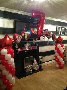 One Direction balloon column xx www.bellissimoballoons.co.uk