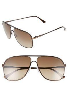 TOM FORD 60Mm Matte Aviator Sunglasses. #tomford #