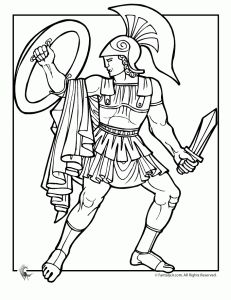 greek myths achilles 231x300 Ancient Greek Gods and Greek Heroes Coloring Pages