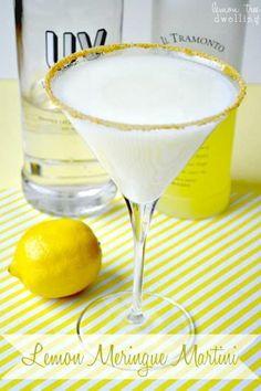 LEMON MERINGUE MARTINI     ~2 oz Limoncello Liqueur ~1 oz UV Whipped Vodka ~.5 oz Lemonade  ~.5 oz Fat-free Half and Half  >Rim: Lemon Juice or Simple Syrup & Graham Cracker crumbs