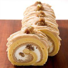 マロンづくしのモンブランロールケーキ   レシピ  お菓子作り・パン作りの材料と道具の専門店   cuocaクオカ