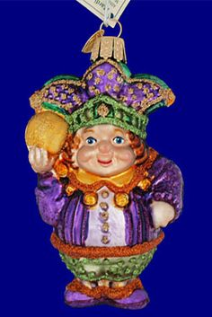 Mardi Gras Jester Glass Ornament by Old World Christmas