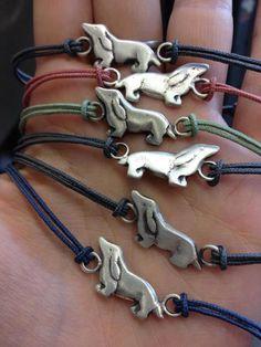 S'Wag Jewellery makes these awesome mini Dachshund friendship bracelets!