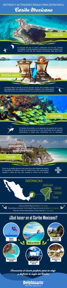 Lee la siguiente infografía y déjate enamorar por el esplendor del Caribe Mexicano.