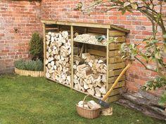Firewood Storage So organized, so neat. I wish.