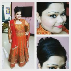 And finally the day is here.. My brother is getting married.. N here's my ootd for the day.. #veeraydiweddinghai #ootd #orange #indian #traditional #bhaikishaadi #excited #fun #marriage #suit #fotd #hairstyle #kthanksbye