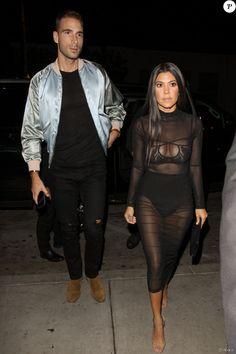 Kourtney Kardashian et Simon Huck arrivent au Catch à Los Angeles. Le 4 novembre 2016.