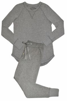 The Perfect Ski Jammie! Cute Pajamas, Pajamas Women, Pajama Outfits, Nightgowns, Loungewear, Pjs, Pajama Set, Sexy Lingerie, Heather Grey