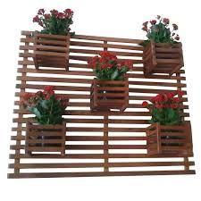 Resultado de imagen para floreira de parede de madeira