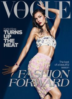 Vogue Magazine Covers, Fashion Magazine Cover, Fashion Cover, Vogue Covers, Karlie Kloss, Daria Werbowy, Vogue Fashion, Fashion Models, High Fashion