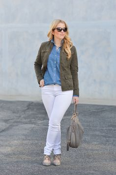 California Tailored   Blue + White Button Down Top + White Jeans   What to Wear in LA in January   Luci's Morsels :: LA Fashion Blog