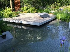 Cracked Earth by Kaza Concrete used by Hugo Bugg at the Chelsea flower show