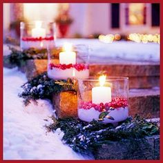 Easy, warm and welcoming cranberry Luminaria for the porch or path