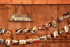 Memories - either of the past or of the time of the current get-together to look over the last day