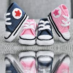 Crochet Converse so cute