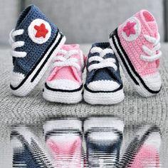 Crochet Converse so cute