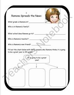 ramona the pest by beverly cleary complete unit of reading rh pinterest com Ramona Volume 1 Ramona and Beezus Book