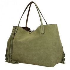 Gianni Chiarini shopper Ray Fringe bamboo