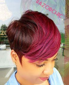 Razorchicofatlanta.com  #razorchic #shorthair #hair #color #highlift #strawberry #strawberryshortcake #transformation #realhair follow our salon page @razorchicofatlantasalon by razorchicofatlanta