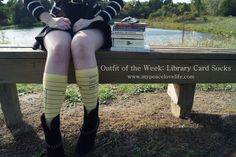 Our Library Card Socks were featured on China Barbie's Outfit of the Week!