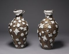 Ryan Mitchell - Butterfly Vase Pair | From a unique collection of sculptures at http://www.1stdibs.com/art/sculptures/