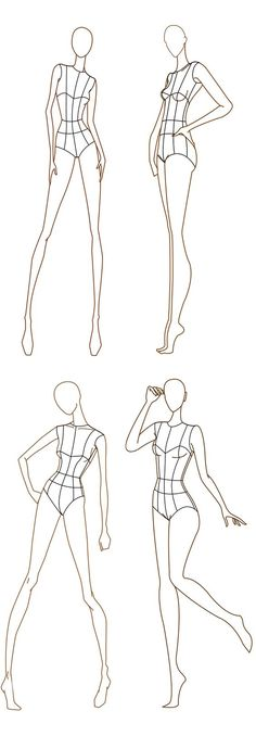 Free download - Fashion design templates. more here http://www.designersnexus.com/design/free-fashion-croquis-templates/: