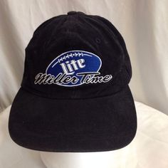 Miller time football beer unisex clasp-style adjustable hat