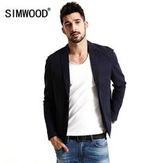 SIMWOOD 2017 New Spring Casual blazers Coats Men Cotton and Linen Fabric pure and nature Fashion Jacket