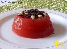 Gelo di melone (gelatina di anguria). Ricetta siciliana del gelo di melone (o mellone), gelatina di cocomero, dolce facile ed economico senza colla di pesce