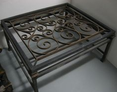 View This Item And Discover Similar Coffee And Cocktail Tables For Sale At    Wrought Iron Coffee Table Comprised Of An Antique French Gate, With A  Fitted ...