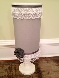 Custom Headband Holder with Stand, Storage and Lid. $25.00, via Etsy.