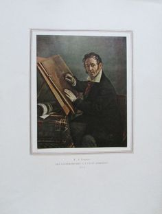 TROPININ DER KUPFERSTECHER Utkin Porträt Kunstdruck Reproduktion Russland 1952