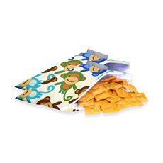 Itzy Ritzy(TM) Snack Happened Mini(TM) Mini Reusable & Washable Snack Bags - Funky Monkey Remix-buybuy BABY