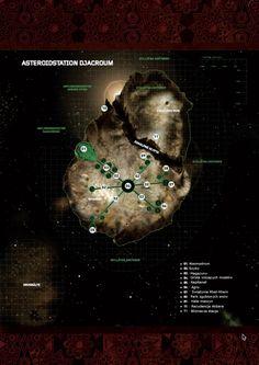 Djachorum - plan stacji zwędzony z forum Fria Ligan i przetłumaczony na PL Fantasy Map, Future Tech, Charts, Maps, Third, Sci Fi, How To Plan, Places, Movie Posters