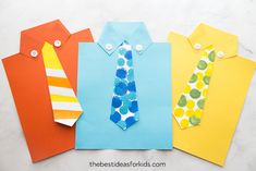 Get the free tie template to make this cute Shirt & Tie card for Dad! Perfect Father's Day Card kids can make. Father's Day Craft for Kids, Father's Day Craft for Preschoolers, Tie template. Kids Fathers Day Crafts, Fathers Day Cards, Happy Fathers Day, Gifts For Kids, Father's Day Activities, Craft Activities For Kids, Preschool Crafts, Church Activities, Toddler Crafts