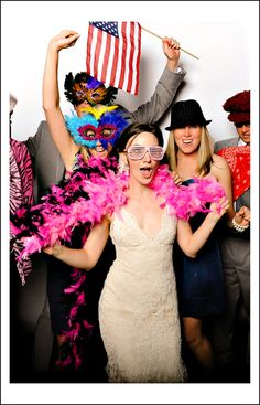 "Guests can have lots of fun in a photo booth at weddings. What's your favorite ""prop?"""